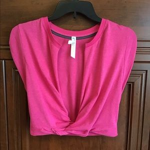 Free People, S/P Movement Pink crop w/ Cap sleeves